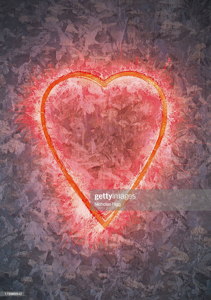 Heart of sparks : Stock Photo