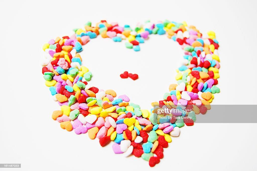 Heart of Sprinkles : Stock Photo