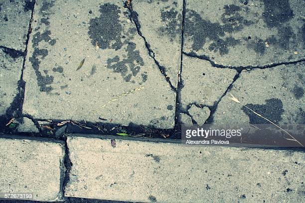 Heart of stone formed in pavement cracks
