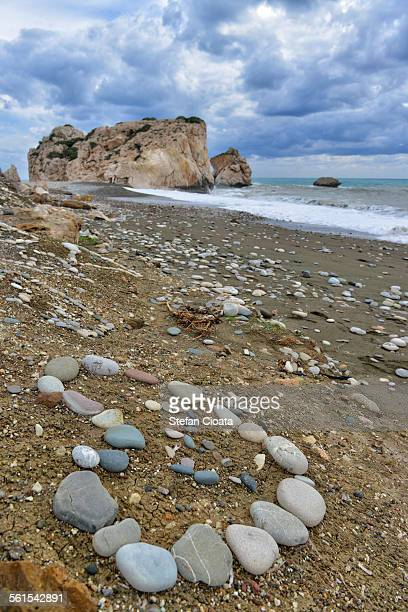 Heart of stones at Aphrodite's rock