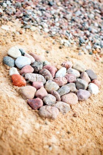 Heart of stones : Stock Photo