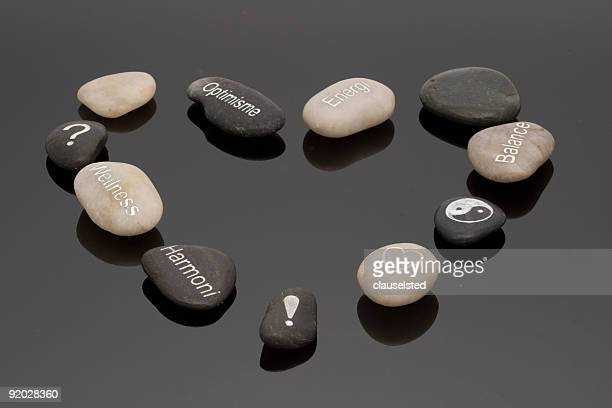 Heart of wellness stones
