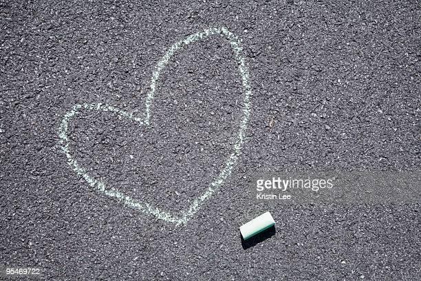 Heart on pavement