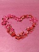 Heart, pink, art, background, valentine