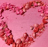 Heart, pink, art, background, valentine