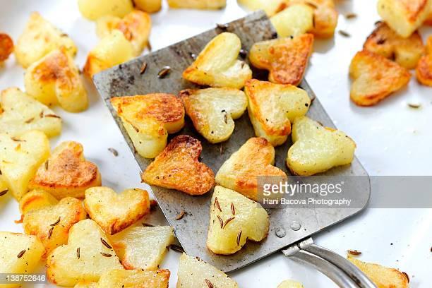 Heart roasted potatoes