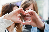 Heart shape from couple hands, Istanbul