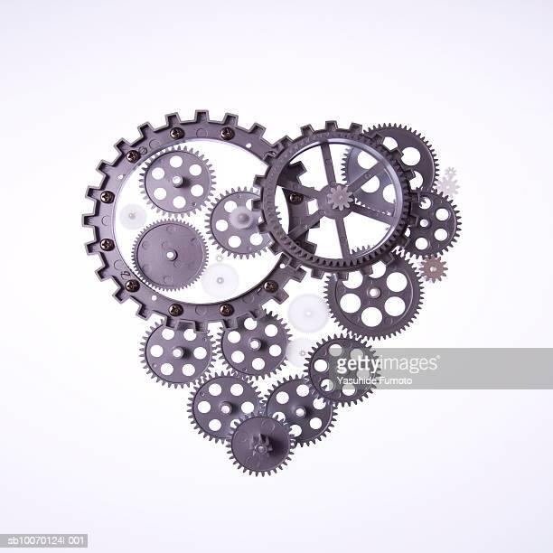 Heart shape from gear wheels, studio shot