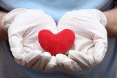 Heart shape in doctor's hands