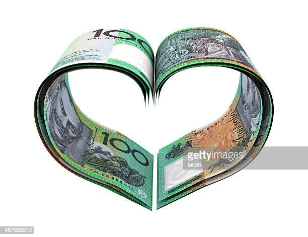 Heart Shape Made Australian Dollar