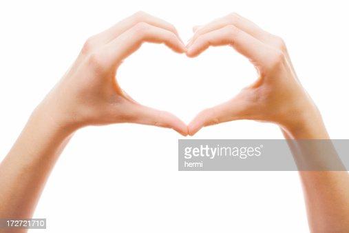 Forma di cuore in due splendide palme
