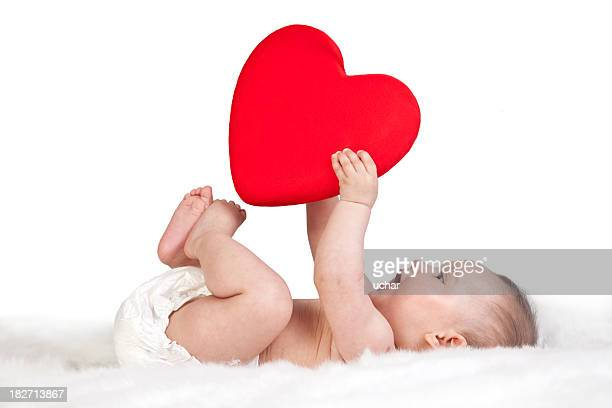 heart shape of the baby's hand