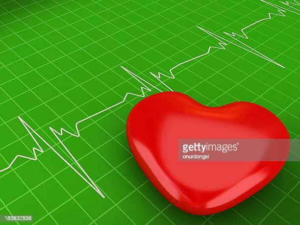 Herzform auf eine Cardiogram