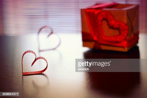 heart shape text happy retro : Stock Photo