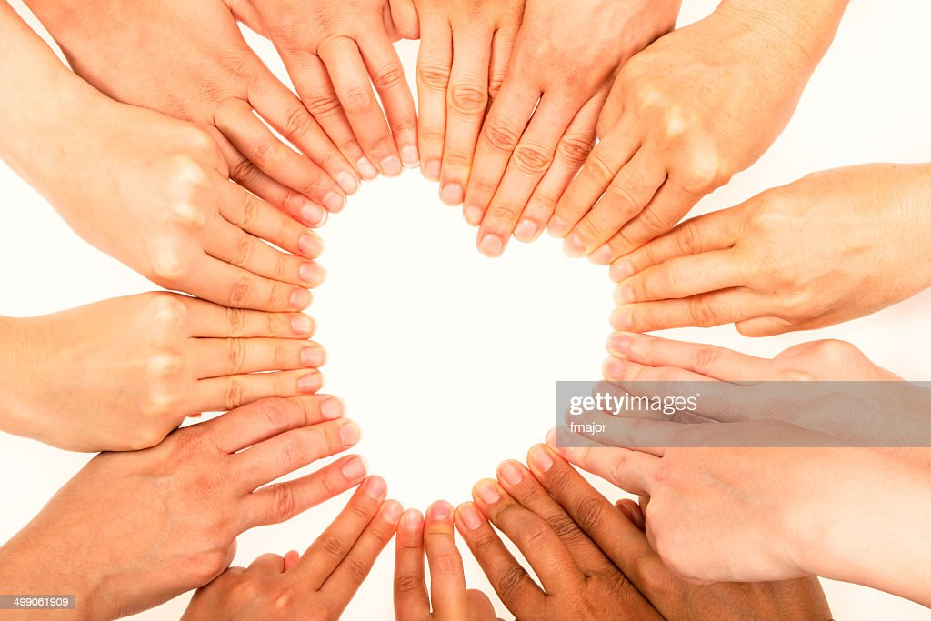 Heart Shape with human fingers : Stock Photo