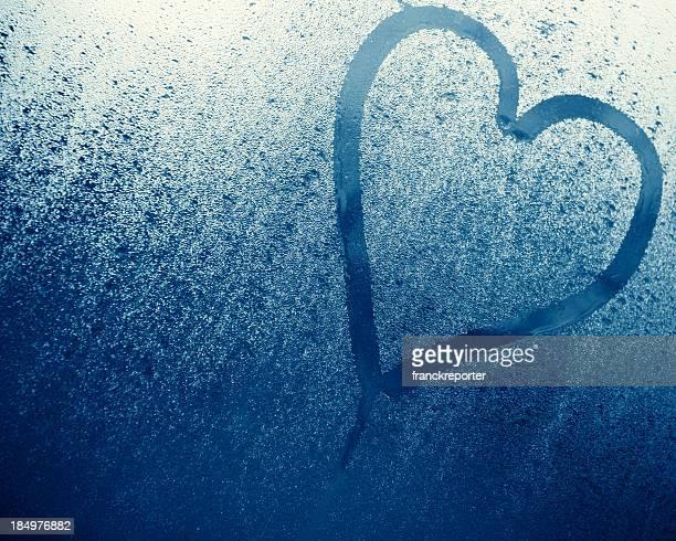 Herzform, auf Glas für St. Valentine