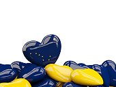 Heart shaped alaska state flag. United states local flags. 3D illustration
