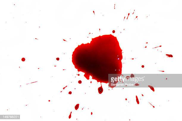 Heart shaped blood spatter
