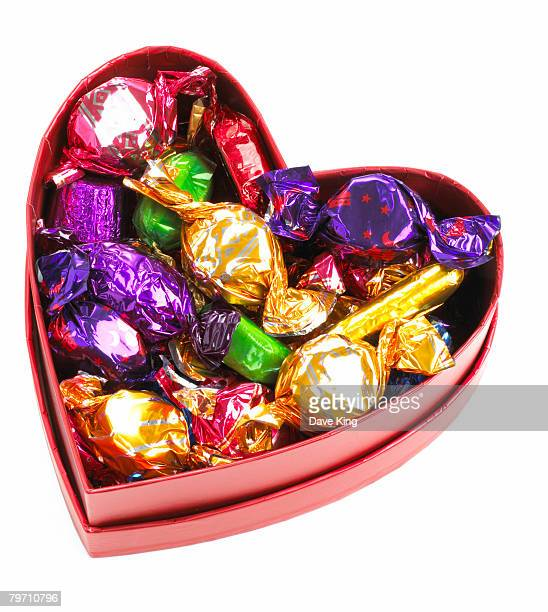 Heart shaped box of sweets