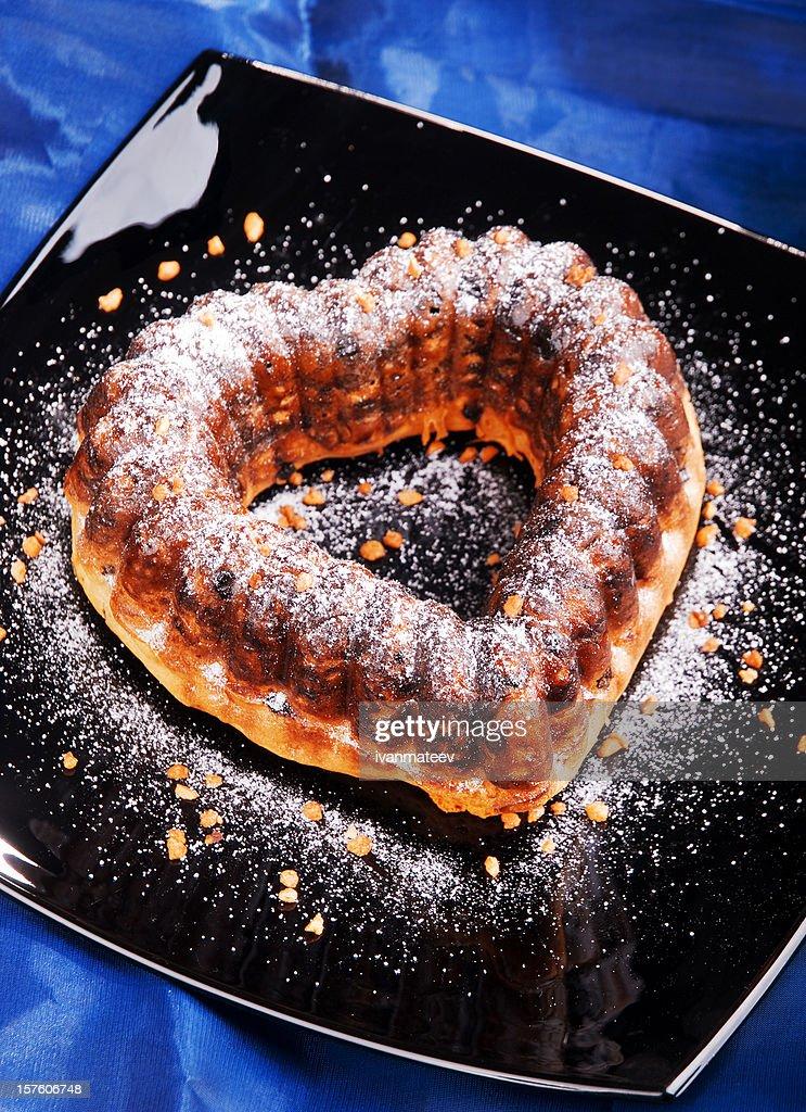 Heart shaped cake : Stock Photo