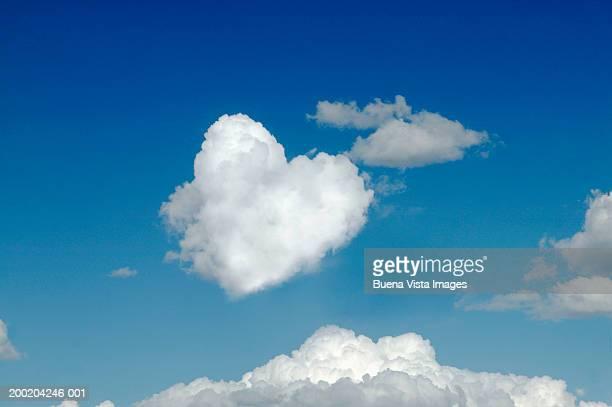 Heart shaped cloud and sky