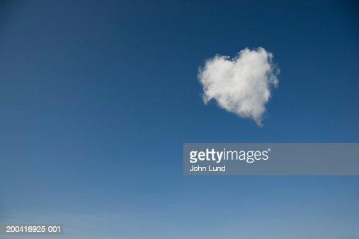 Heart shaped cloud (Digital Manipulation) : Stock Photo