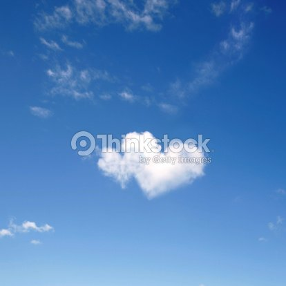 heart shaped clouds : Stock Photo