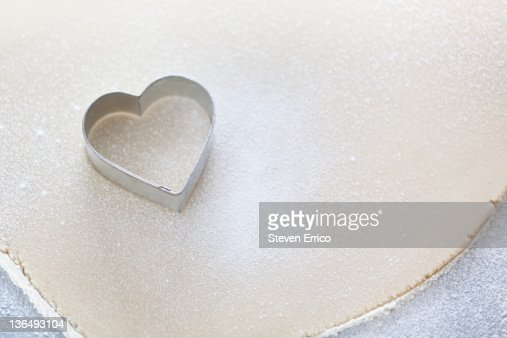 Heart shaped cookie cutter : Stock Photo