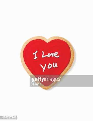 Heart shaped cookie : Stock Photo