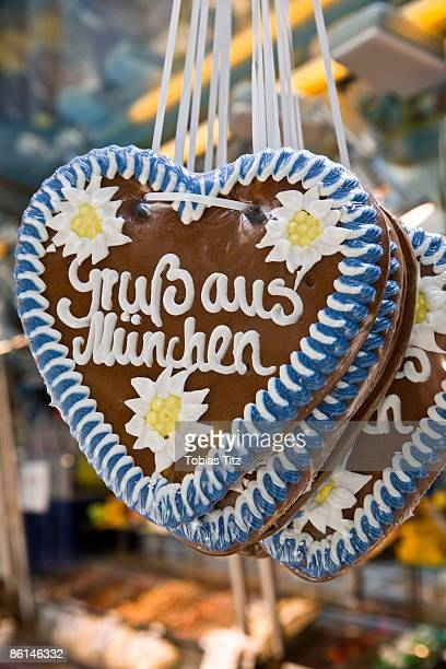 Heart shaped cookies, Munich, Germany