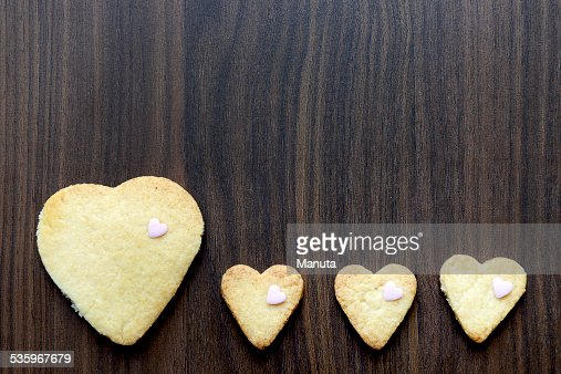 Heart Shaped Cookies : Stock Photo