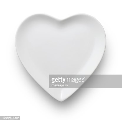 Piatto a forma di cuore