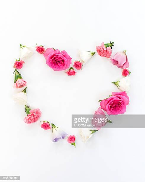 Heart shaped flower arrangement