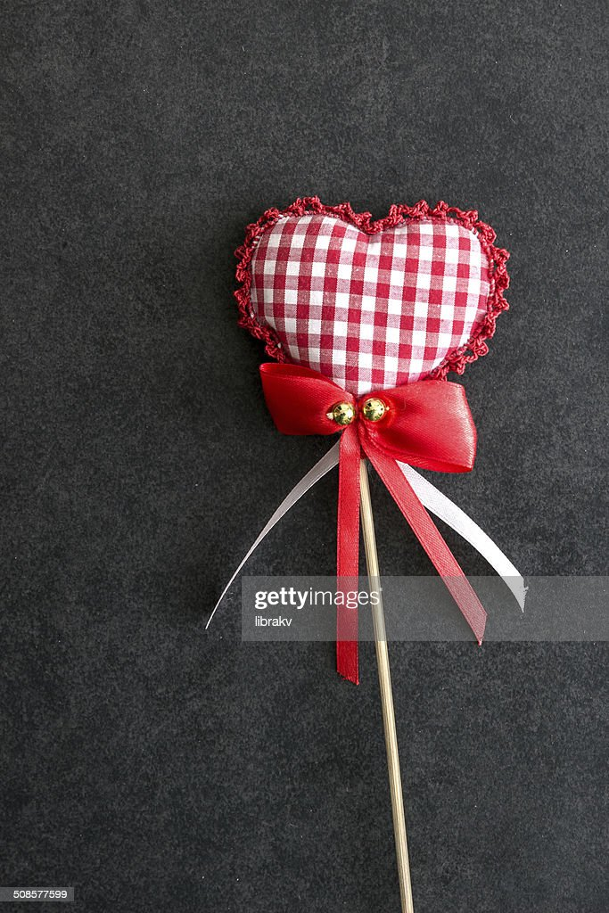 Herzförmiger Urlaub Liebe-Schmuckteil. : Stock-Foto