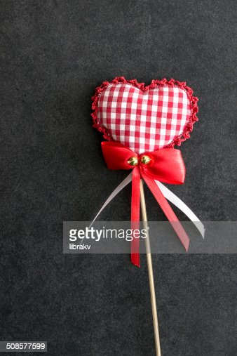 heart shaped holiday love ornament : Stock Photo