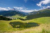 Heart Shaped Lake In Beautiful Mountain Landscape