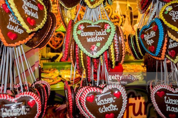 Heart shaped Lebkuchen ( Sweet Candy )