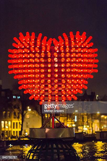 Heart shaped light installation