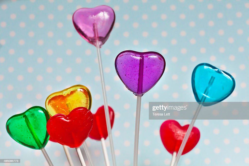 Heart shaped lollies