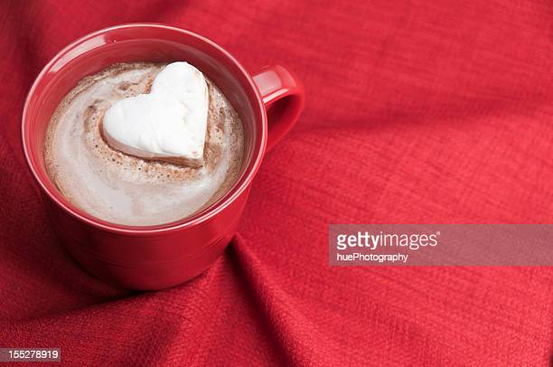 Heart shaped marshmallow