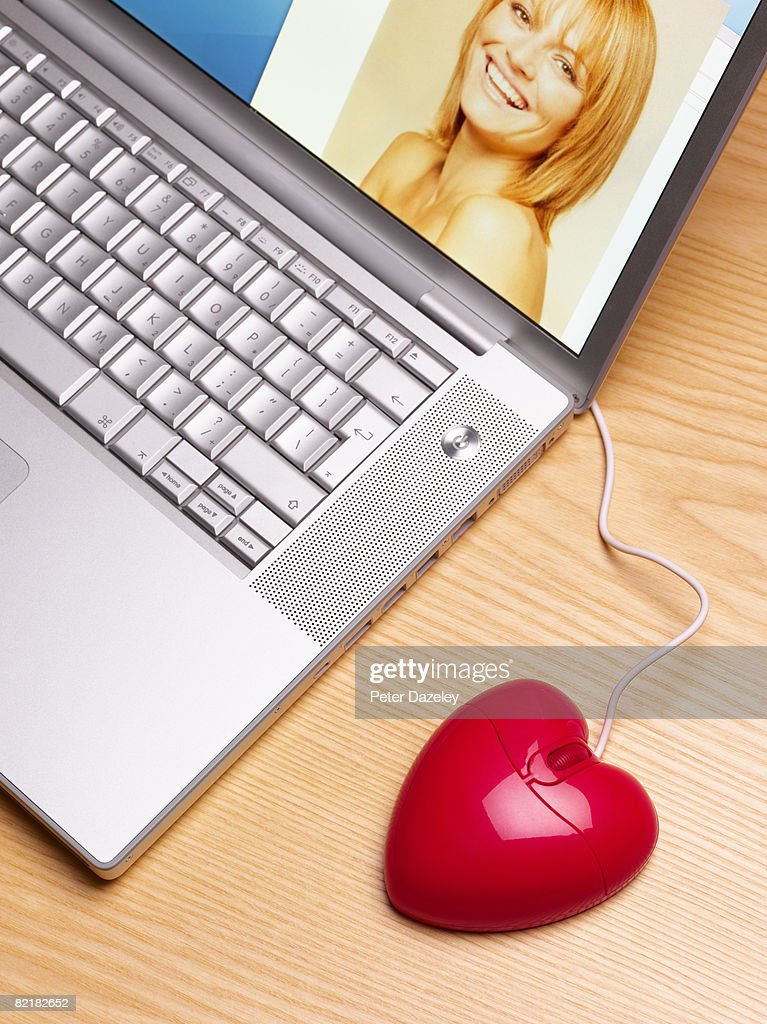 Heart shaped mouse : Stock Photo