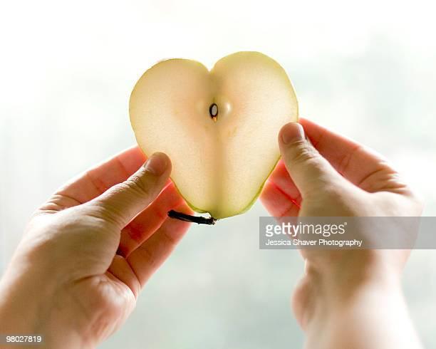 Heart shaped pear
