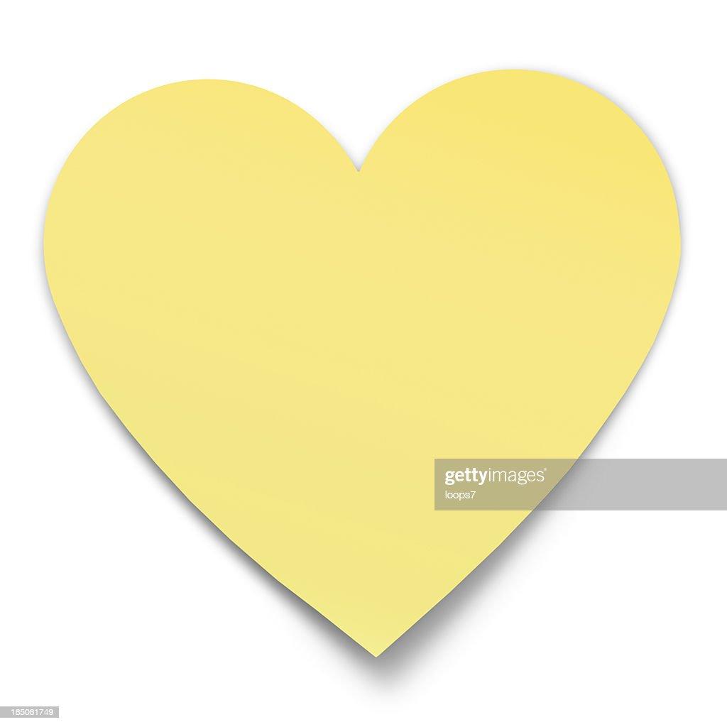 heart shaped postit