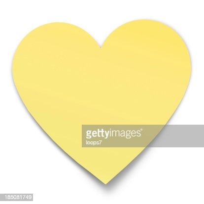 postit a forma di cuore