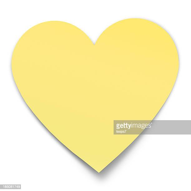 heart shaped postit