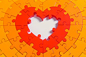 Heart shaped puzzle, with empty centre