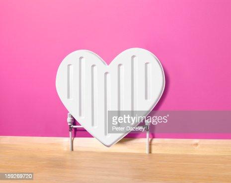 Heart shaped radiator