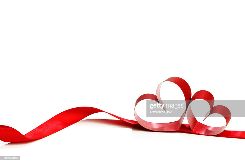 Heart shaped ribbon : Stock Photo