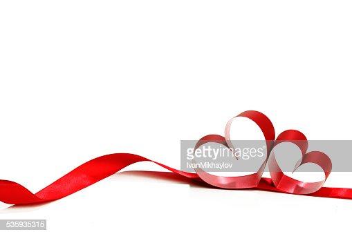 Heart shaped ribbon : Stock Photo