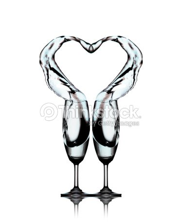 e48368aeb798 Heart splash from two glasses of water   Stock Photo